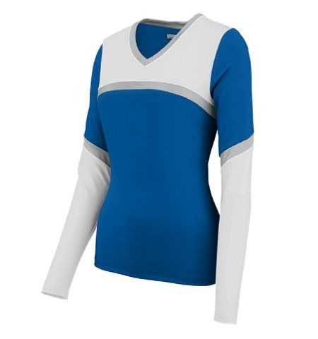 AUGUSTA CHEERFLEX RISE UP LONG SLEEVE CHEER SHELL - 9210