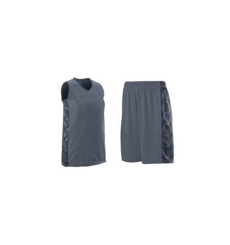 AUGUSTA LADIES FAST BREAK PERFORMANCE POLY BASKETBALL UNIFORMS WITH PRINTED SIDE PANELS -1722 /1724