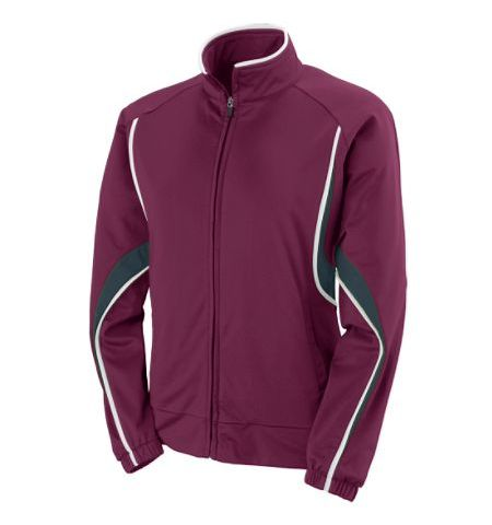 AUGUSTA LADIES RIVAL HEAVY WEIGHT POLY BRUSH TRICOT WARM UP JACKET - 7712
