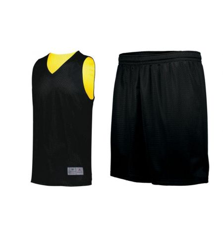 AUGUSTA TRICOT MESH REVERSIBLE 2.0 JERSEY WITH SINGLE SIDE SHORTS - 162 / 1851
