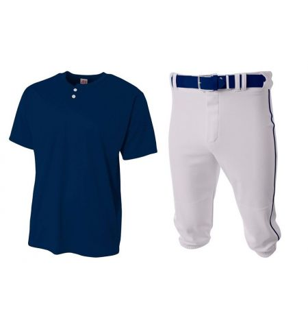 2 BUTTON  BASEBALL UNIFORM SET WITH KNICKERS - AUO-BU300