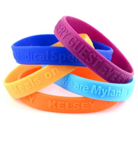 "1/2"" EMBOSSED SILICONE WRISTBAND"