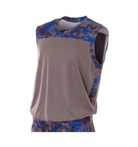 A4 CAMO PEFORMANCE INTERLOCK MUSCLE T-SHIRT/JERSEY-N2345J