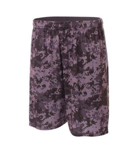 A4 DIGITAL CAMO INTERLOCK PERFORMANCE POLYESTER SHORTS - N5322