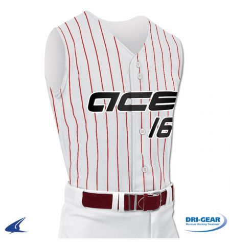 "CHAMPRO ""ACE"" PRO WARP SLEEVELESS BASEBALL/SOFTBALL JERSEY - BS16A"