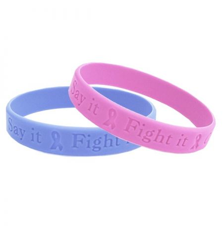 SOLID COLOR DEBOSSED SILCONE WRISTBAND