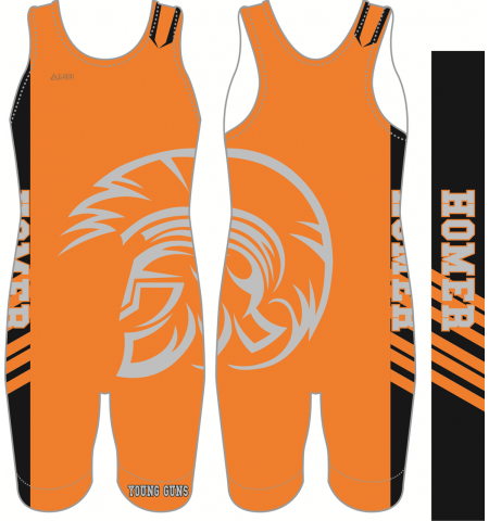 MAXXIM SPORTS CUSTOM DYE SUBLIMATED WRESTLING SINGLET - WS-MAX100