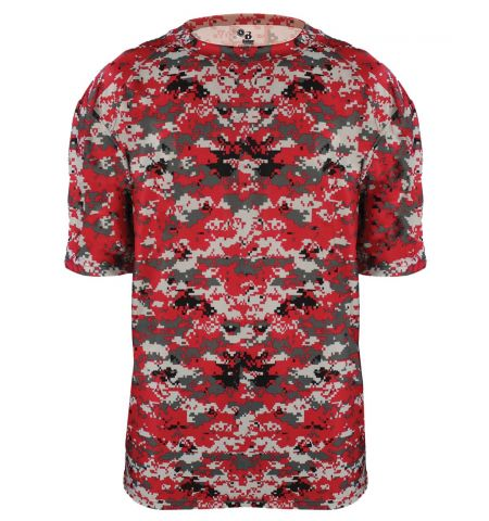 BADGER SPORT SUBLIMATED DIGITAL CAMO PERFORMANCE TEE - 4180 / B2180