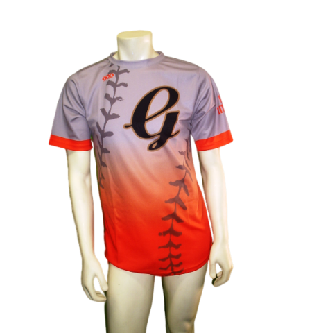 "MAXXIM SPORTS SUBLIMATED ""LACE"" CREW BASEBALL JERSEY - MAX-B-LACE"