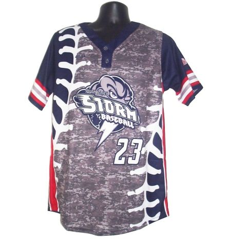 MAXXIM SPORTS CUSTOM SUBLIMATED 2 - BUTTON BASEBALL JERSEY - MAX-DSB400