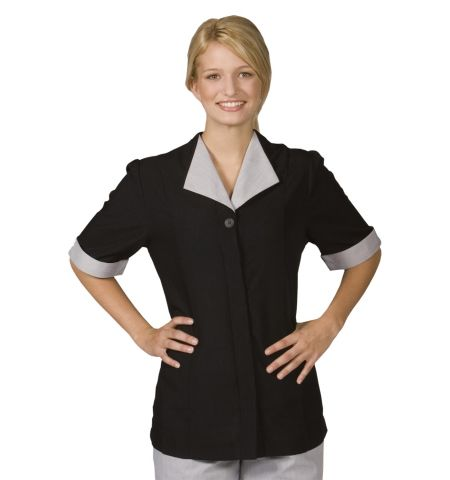 BLACK POLYESTER HOUSEKEEPING TUNIC