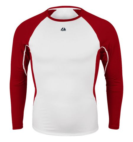 MAJESTIC WARRIOR POLY/SPANDEX LONG SLEEVE COMPRESSION SHIRT