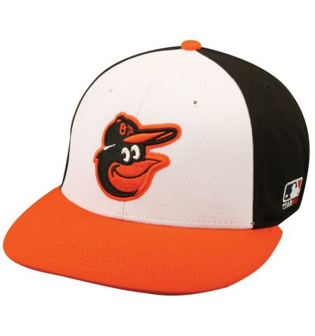 MLB595 MAJOR LEAGUE BASEBALL REPLICA CHARCOAL POLYESTER FITTED FLAT BILL CAP  (MLB®)