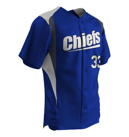 CHAMPRO BULL PEN FULL BUTTON COLOR BLOCK BASEBALL JERSEY - BS33