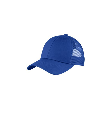 TRUCKER MESH STRUCTURED CAP WITH HOOK/LOOP CLOSURE - C911