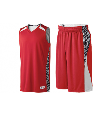 HIGH 5 PRINTED CAMPUS REVERSIBLE BASKETBALL UNIFORM - 332420 / 335890