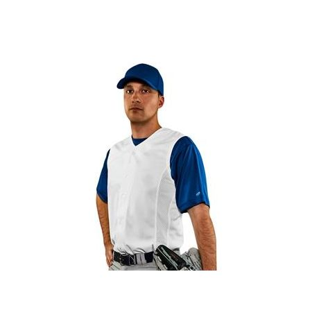 CHAMPRO RELIEVER SLEEVELESS PRO WEIGHT FULL BUTTON BASEBALL JERSEY - BS169