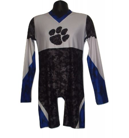 MAXXIM SPORTS CUSTOM DYE SUBLIMATED LONG SLEEVE CHEER BODY SUIT - DS-CU500V