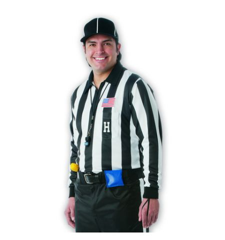 DALCO LONG SLEEVE COLLEGIATE FOOTBALL REFEREE SHIRT - D744LS
