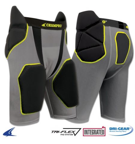 "CHAMPRO ""TRI-FLEX"" INTEGRATED GIRDLE W/BUILT-IN HIP, TAIL & THIGH PADS - FPGU6"
