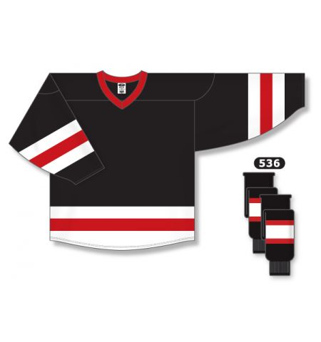 ATHLETIC KNIT AK-KNIT POLY MESH TRI-COLOR HOCKEY JERSEY - H6500