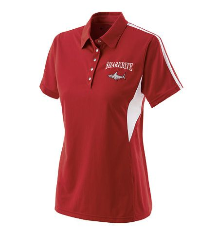 HOLLOWAY LADIES SHARK BITE DRY-EXCEL SNAG RESISTENT SNAP FRONT PERFORMANCE POLO SHIRT - 222308