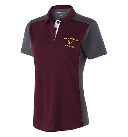 HOLLOWAY DIVISION WOMENS DRY-EXCEL TRI COLOR PERFORMANCE POLO SHIRT - 222386