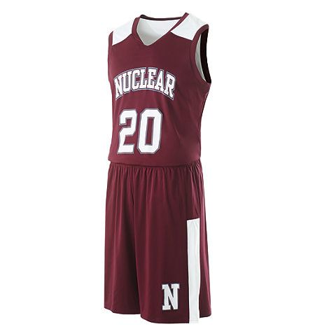 HOLLOWAY NUCLEAR REVERSIBLE BASKETBALL UNIFORM SET - 224068