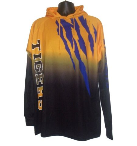 MAXXIM SPORTS CUSTOM DYE SUBLIMATED LONG HOODED SHIRT - DSSWLH100LS