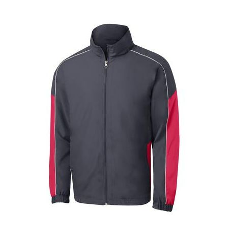SPORT-TEK PIPED COLORBLOCK WIND JACKET - JST61