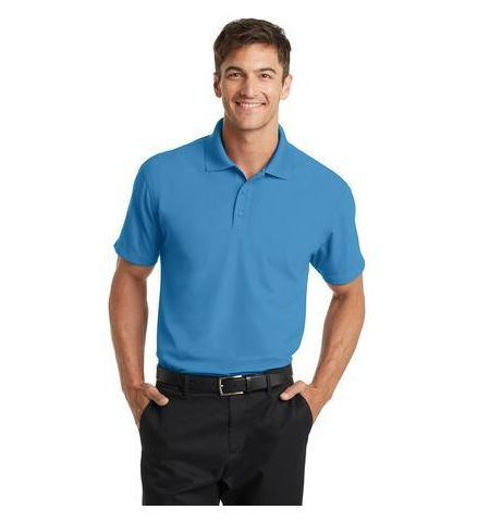 PORT AUTHORITY DRY ZONE GRID PATTERN TEXTURED PERFORMANCE POLYESTER POLO SHIRTS - K572