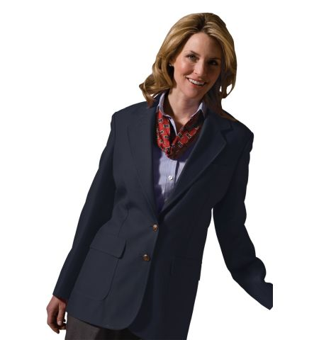LADIES POLYESTER SINGLE BREAST POLY BLAZER - 6500