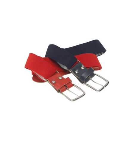 BASEBALL BELT, STRETCH ELASTIC WITH LEATHER TABS - 6230