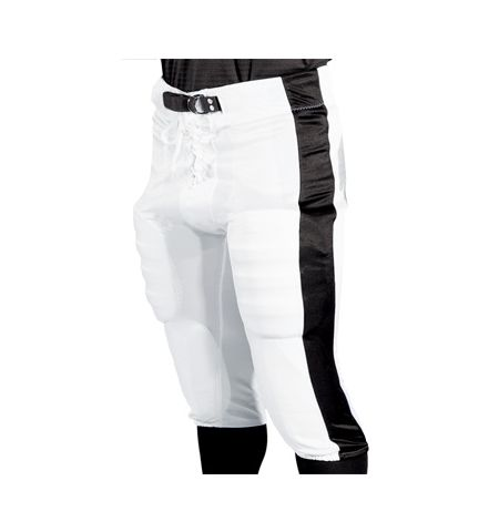 "ADULT ""SIDE STRIPE"" SLOTTED WAIST FOOTBALL PANTS - 3327"
