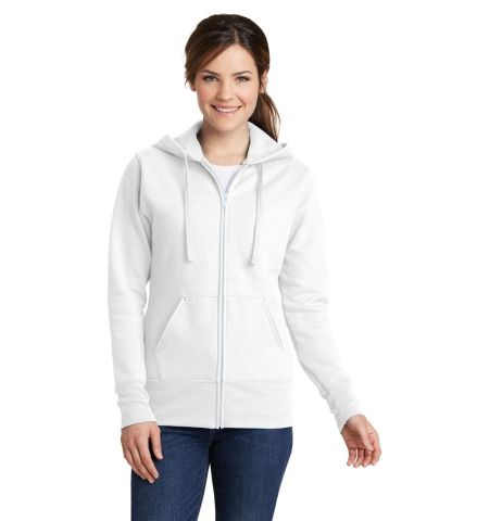 Port & Company ®  Ladies Core Fleece Full-Zip Hooded Sweatshirt. LPC78ZH