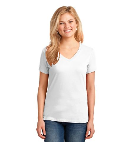 Port & Company ®  Ladies Core Cotton V-Neck Tee. LPC54V