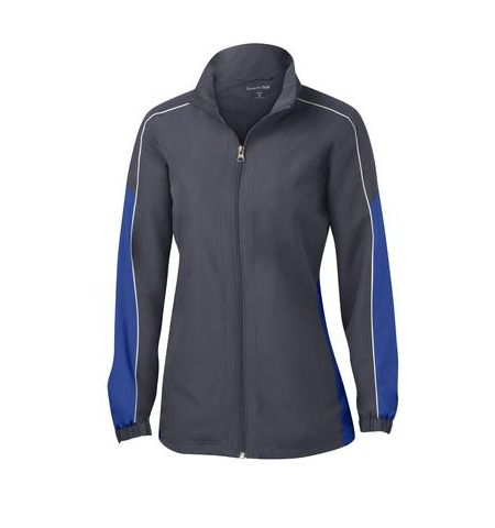 SPORT-TEK LADIES PIPED COLORBLOCK WIND JACKET - LST61