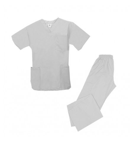 UNISEX MULTI POCKET V-NECK TOP, 5 POCKET PANTS