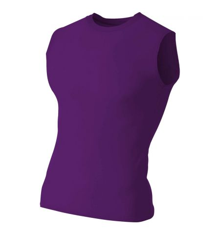 A4 ADULT COMPRESSION SLEEVELESS TEE -N2306