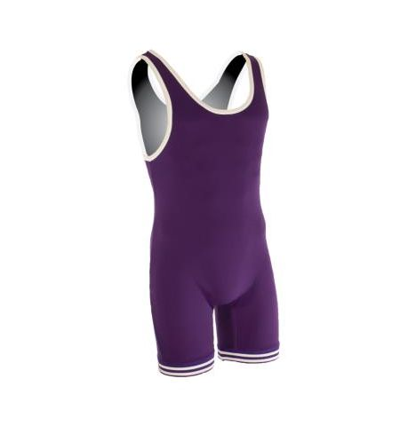 MATMAN YOUTH DOUBLE KNIT NYLON HIGH CUT WRESTLING SINGLET - 81