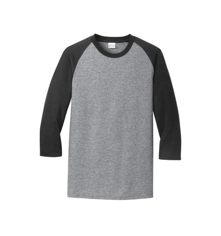 PORT & COMPANY 50/50 COTTON/POLY BLEND 3/4 SLEEVE RAGLAN T-SHIRT - PC55RS