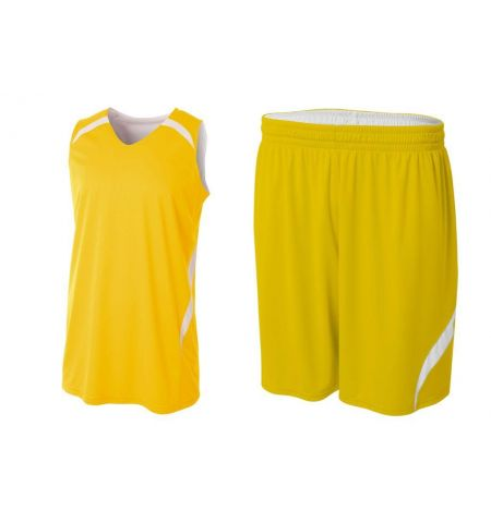 A4 DOUBLE DOUBLE REVERSIBLE BASKETBALL UNIFORM - N2372 / N5364