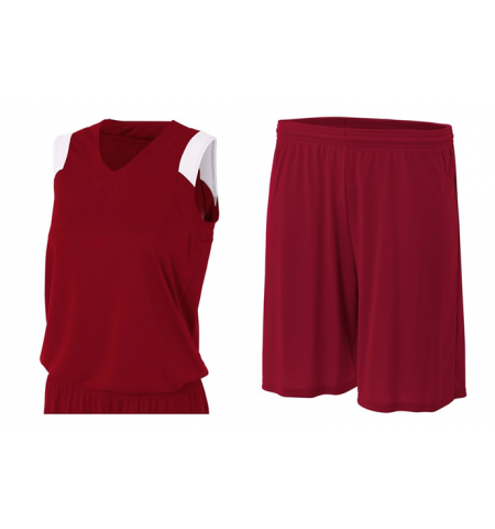 A4 LADIES MOISTURE MANAGMENT PERFORMANCE MUSCLE CUT BASKETBALL UNIFORM - NW2340 / N5283