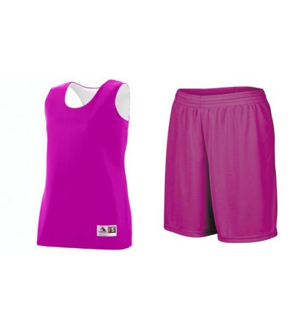 AUGUSTA LADIES REVERSIBLE WICKING UNIFORM WITH SINGLE SIDE SHORTS  - 147/1423