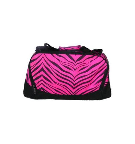 "PIZZAZZ ZEBRA PRINT SMALL DUFFEL BAG 18"" W x9.5"" H x10"" D - B400AP"