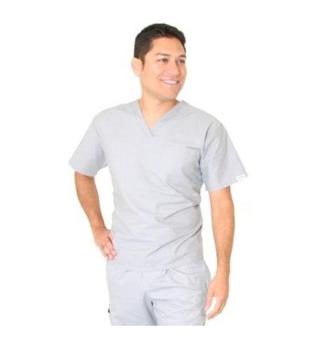 SPECTRUM UNISEX POLY/COTTON/POPLIN V-NECK SCRUB TOP
