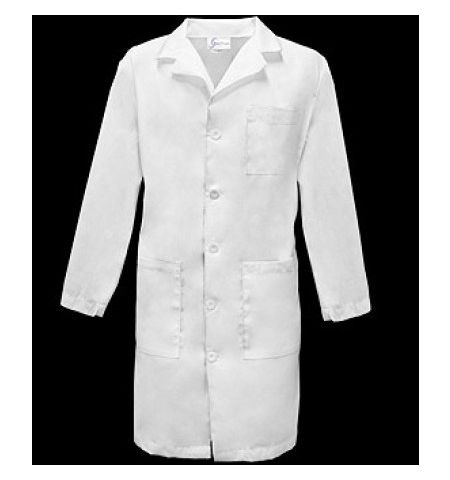 "SPECTRUM UNISEX 40"" 5-BUTTON LABCOAT WITH THREE POCKETS"