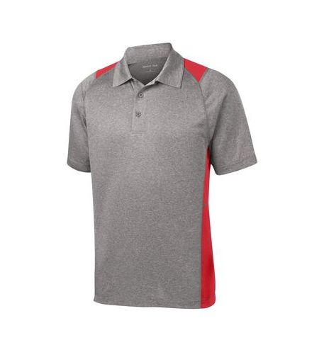 SPORT-TEK HEATHER CONTENDER  COLOR BLOCK POLO SHIRT - ST665