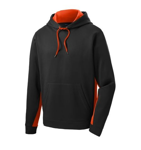 SPORT-TEK 8 OZ 100% POLY FLEECE COLOR BLOCK HOODIE - ST235