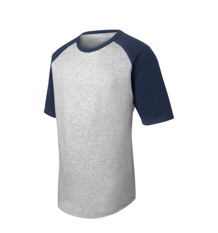 SPORT-TEK SHORT SLEEVE COTTON COLOR BLOCK RAGLAN JERSEY T-201 / YT201
